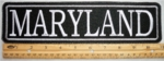 "487 L - 11"" MARYLAND - EMBROIDERY PATCH - GRAY - FREE SHIPPING!"
