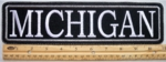"488 L - 11"" MICHIGAN - EMBROIDERY PATCH - GRAY - FREE SHIPPING!"