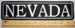 "490 L - 11"" NEVADA - EMBROIDERY PATCH - GRAY - FREE SHIPPING!"