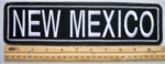 "493 L - 11"" NEW MEXICO - EMBROIDERY PATCH - GRAY - FREE SHIPPING!"
