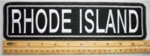 "501 L - 11"" RHODE ISLAND - EMBROIDERY PATCH - GRAY - FREE SHIPPING!"