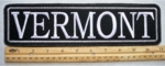 "507 L - 11"" VERMONT - EMBROIDERY PATCH - GRAY - FREE SHIPPING!"