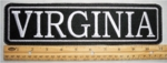 "508 L- 11"" VIRGINIA - EMBROIDERY PATCH - GRAY - FREE SHIPPING!"