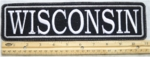 "514 L - 11"" WISCONSIN - EMBROIDERY PATCH - GRAY - FREE SHIPPING!"