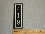 1519 L - 419 - Area Code - Embroidery Patch
