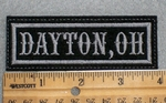 1596 L - Dayton, Oh - Grey - Embroidery Patch
