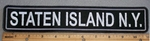 1687 L - Staten Island, NY 11 Inch - Embroidery Patch