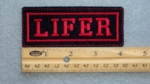 125 L - LIFER - EMBROIDERY PATCH - RED