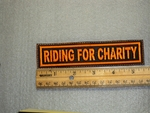 1520 L - Riding For Charity - Orange - Embroidery Patch