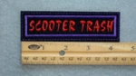 40 L - SCOOTER TRASH - EMBROIDERY PATCH - RED AND PURPLE
