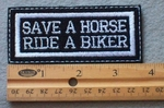 919 L - Save A Horse Ride A Bike Embroidered Patch