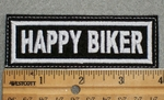 1614 L - Happy Biker - Embroidery Patch