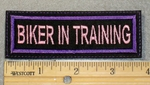 1836 L - Biker In Training - Embroidery Patch