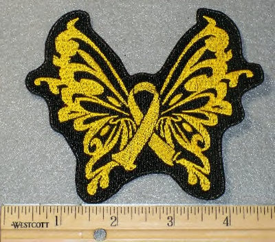 1869 L - Suicide Prevention Butterfly Ribbon - Embroidery patch