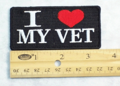 280 G - I LOVE MY VET PATCH - Embroidery Patch