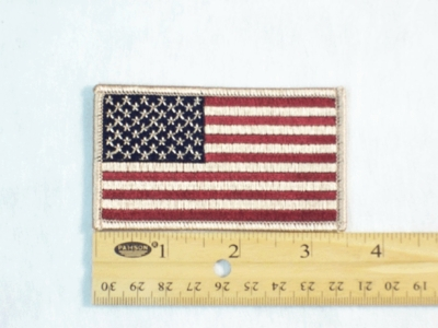 580 R - DESERT CAMO FLAG - Embroidery Patch