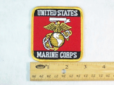 670 R - UNITED STATES MARINE CORPS PATCH - Embroidery Patch