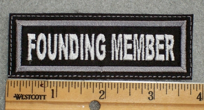 1607 L - Founding Member - Embroidery Patch