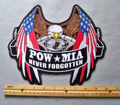 817 G - POW MIA Never Forgotten Embroidered Patch