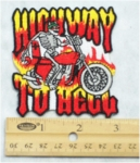242 N - HIGHWAY TO HELL - EMBROIDERY PATCH - SMALL