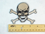 215 N - SKULL AND CROSSBONES PATCH - BEIGE