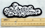 218 N - PILE OF SKULLS - EMBROIDERY PATCH