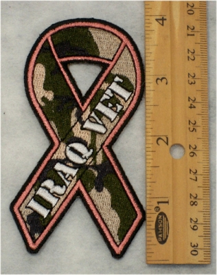 281 G - IRAQ VET CAMO RIBBON - Embroidery Patch