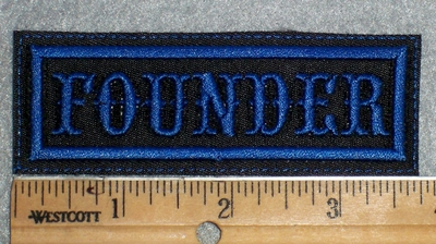 1637 L - Founder - Blue Lettering - Embroidery Patch