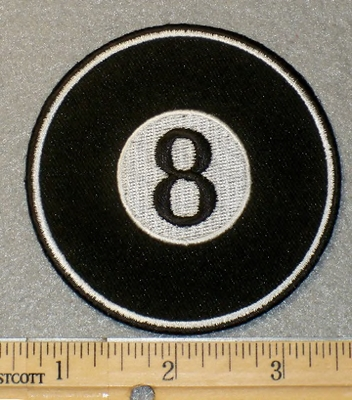 1851 G - 8 Ball - Embroidery Patch