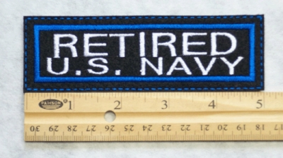 660 L - RETIRED US NAVY PATCH - Embroidery Patch