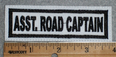 1634 L - Asst. Road Captain - White Background - Embroidery Patch