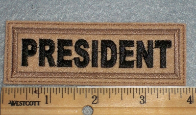 1660 L - President - Light Brown Background - Embroidery Patch