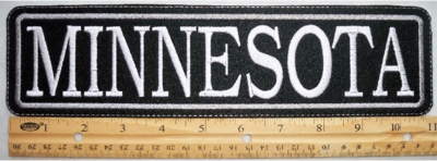 "489 L - 11"" MINNESOTA - EMBROIDERY PATCH - GRAY - FREE SHIPPING!"