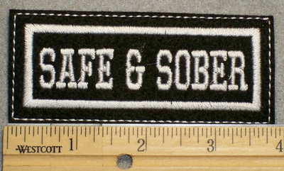1499 L - Safe & Sober - Embroidery Patch
