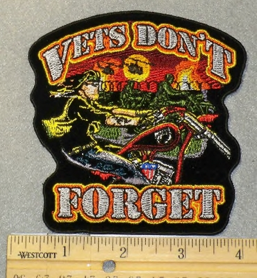 1865 G - Vets Don't  Forget - Embroidery Patch