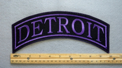 DETROIT TOP ROCKER - EMBROIDERY PATCH - PURPLE - FREE SHIPPING!