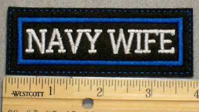 1502 L - Navy Wife - Embroidery Patch