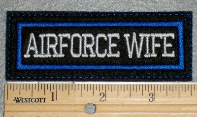 1483 L - Airforce Wife - Embroidery Patch