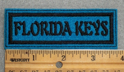 1601 L - Florida Keys _ Blue Background - Embroidery Patch