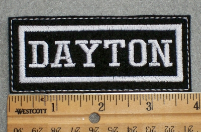 1598 L - Dayton - White - Embroidery Patch