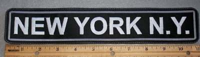 1684 L - New York, NY 11 Inch - Embroidery Patch
