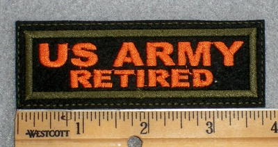 1577 L - US Army Retired - Embroidery Patch