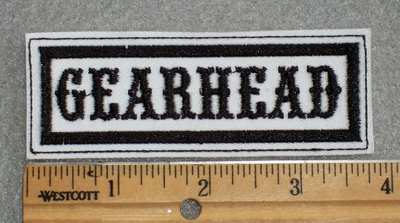 1609 L - Gearhead - Embroidey Patch