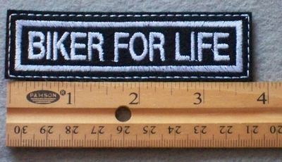 840 L - Biker For Life Embroidered Patch