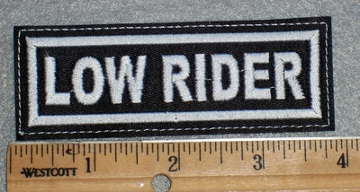 1653 L - Low Rider - Embroidery Patch