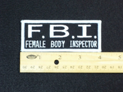 85 L - FEMALE BODY INSPECTOR - EMBROIDERY PATCH