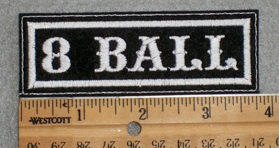 1566 L - 8 Ball - Embroidery Patch
