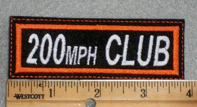 1584 L - 200 MPH Club - Embroidery Patch