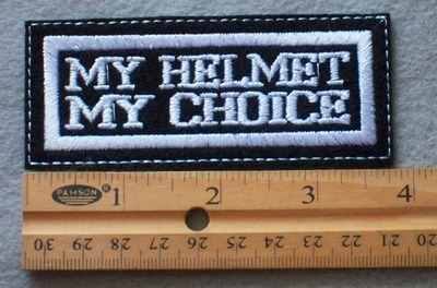 902 L - My Helmet My Choice Embroidered Patch