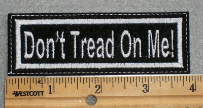 1597 L - Don't Tread On Me - Embroidery Patch